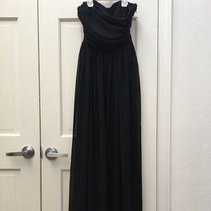 STRAPLESS LONG PROM DRESS